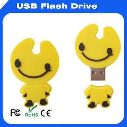 Flexible customized service warmly novelty shape usb flash drive cute