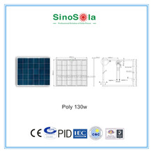 130w photovoltaic solar panel for solar system,solar power plant,solar power station