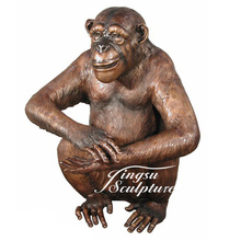 Garden decoration bronze brass monkey animal