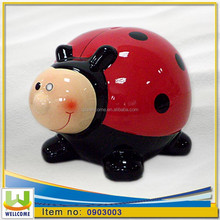 Ceramic Gifts Home Decor Money Box Ladybug cm. 16,5 x 20,5 x h. cm. 13,5