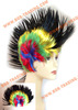 Wholesale 2015 Hot Sale Fashion Cheap Football Fan Wigs human hair extensions easy loop micro ring accesories