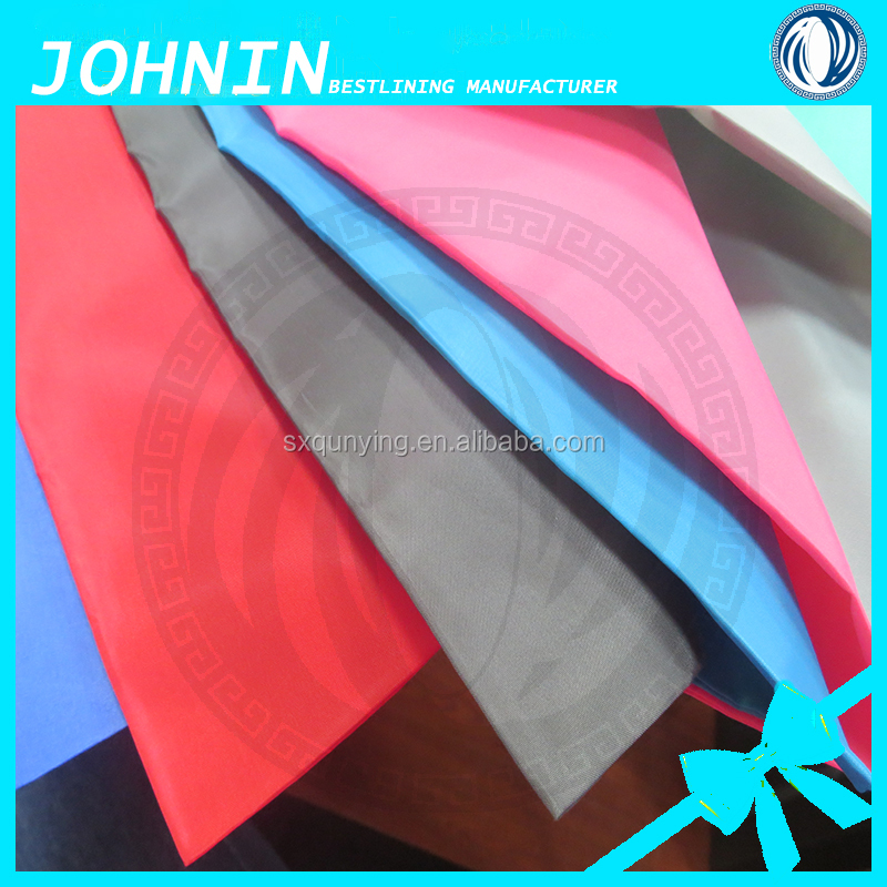 hot sale 100% polyester taffeta fabric, own factory high quality 180t taffeta fabric in shaoxing keqiao