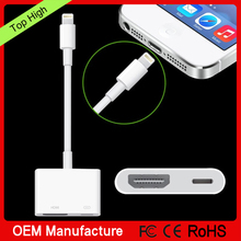 8pin To HD MI cable 2M AV TV HD TV Adapter Cable For iPad/iPhone 5S 6 6P 6S With USB Charger Cable