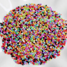 1.5MM Glass Seed Bugle Tube Beads Loose Bead Jewelry Findings(Mixed colors)
