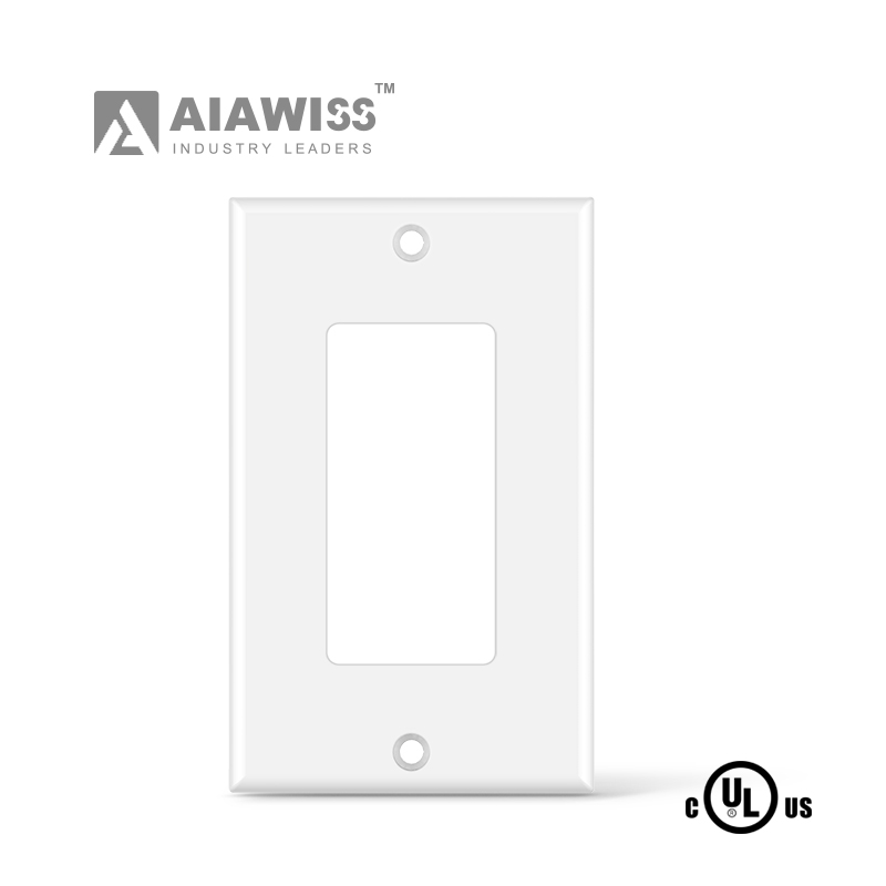 AIAWISS SCREWLESS PLASTIC WALLPLATE FOR DECORATOR SWITCH AND RECEPTACLE