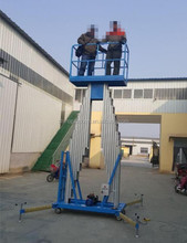 8m manual human lift hydraulic man lift crane price