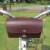 Tourbon Vintage style brown cow leather front seat bag bike saddle bag