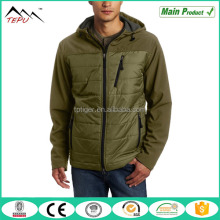 2017 New Style Waterproof Outer Hooded Men Soft Shell Padded Jacket