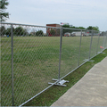 2017 wholesale powder coated chain link temporary fence panels sale