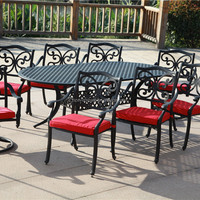 Patio Outdoor Furniture Cast Aluminum 9