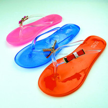 Transparent PVC Strap Transparent PVC Sole Slipper