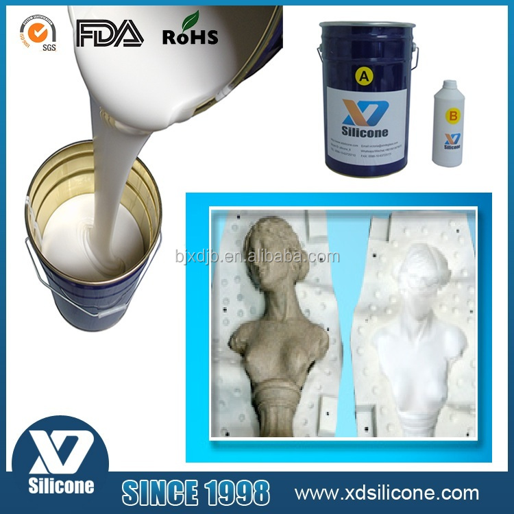 liquid rtv silicone rubber for concrete statues molds making