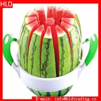 Factory Wholesale Fruit Tools One Step Stainless Steel Watermelon Cutter, Watermelon Slicer