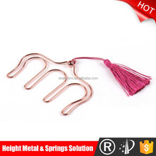Pink lady design metal rose angle document wire clip