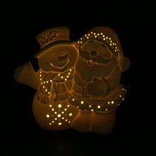 Polyresin snowman led window night light for Christmas decoration