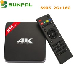 Cheapest 4K 1000M android5.1 tv box H96 Plus AML S905 4gb ram 16gb rom android tv box