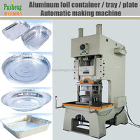 Full automatic Aluminum foil mess tin making machine with pneumatic punching machine