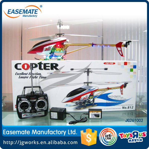 Intelligent control system 3CH RC metal helicopter with battery and light