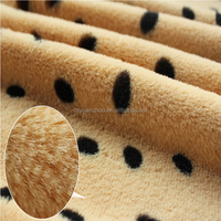 Custom dot printing pv plush fabric