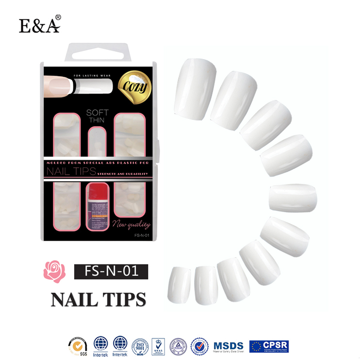 EA 100pcs artificial nail tips curved decoration nail art