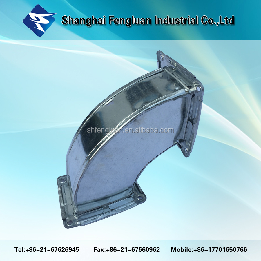 Rectangular flexible duct/ventilation duct 90 degree square tube elbow