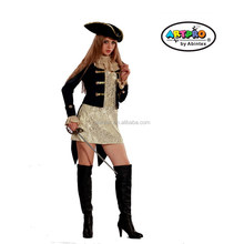 Captain Pirate costume as sexy lady carnaval costume