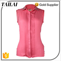 China suppliers Casual sleeveless fashion blouse for office ladies