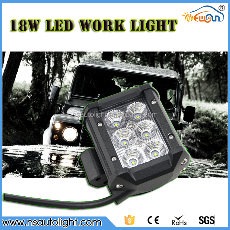 Square LED Motorcycle/Heavy Duty Machine/SUV/Truck Work Light 18W