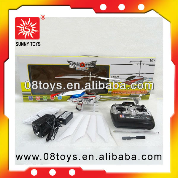 Radio control alloy model helicopter