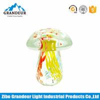 Multicolored Mushroom Art Glass For Home Decoration