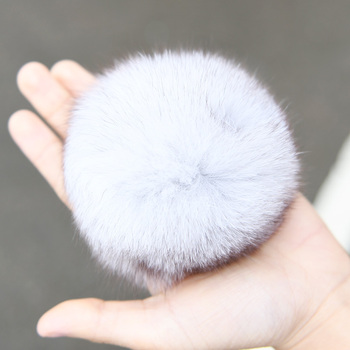 CX-A-02D Real Fur Ball With Pin Genuine Fox/ Raccoon Fur Pom Pom
