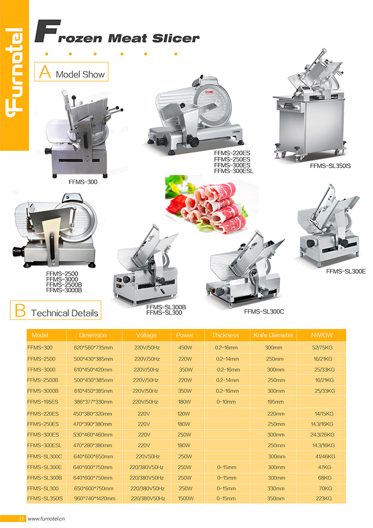 Food Meat Processing Machinery Stainless Steel electric frozen meat slicer machine