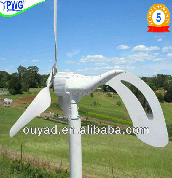 300w wind and solar power hybrid system for street light/LED