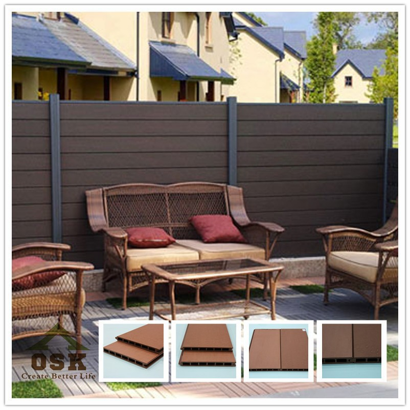 210*21mm board European style outdoor plastic garden wpc fencing bill fence made in china
