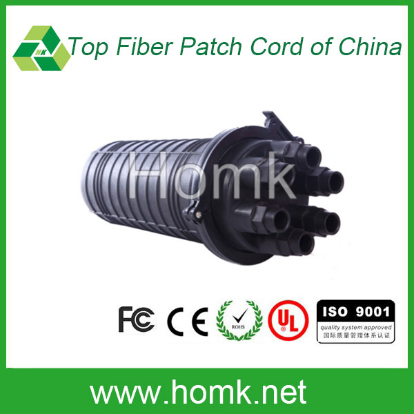 High quality ABS Dome type 3 in 3 out in line fiber optic splice closure <strong>124</strong> core fiber closure