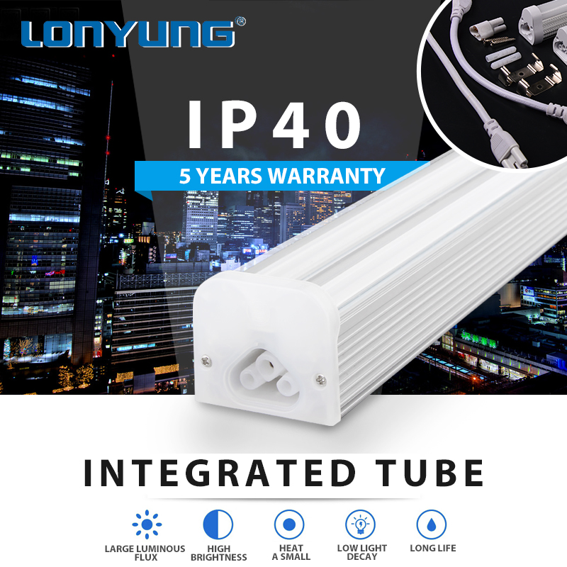 LED Integrated Linear Supermarket Warm/Natural/Cool White tube t5 led tube light integrated