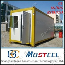 shipping 20 and 40 ft prefab kiosk builders