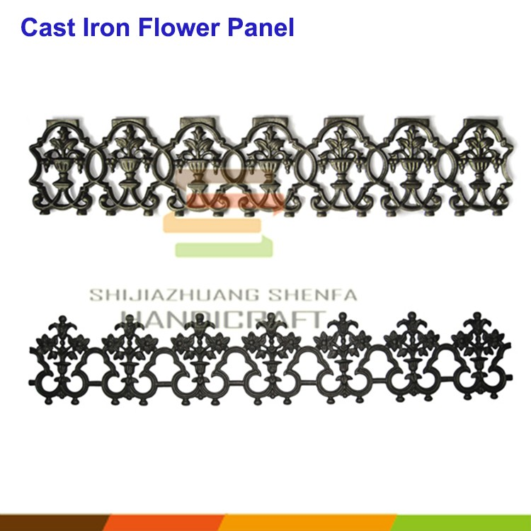 Antique decoration building iron metal material fence panel