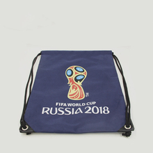 Manufacturers customized 2018 World Cup promotional gift bag cheap 210D polyester draw string bag