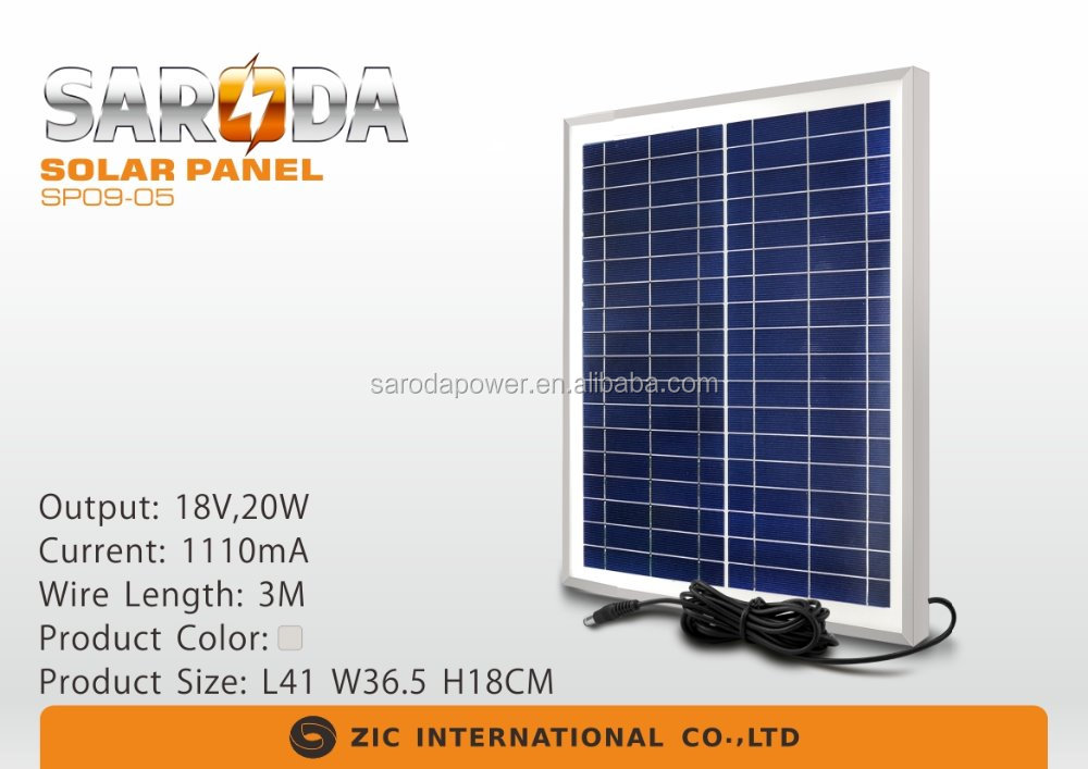 outdoor waterproof portable solar panel polycrystalline solar panel 20w poly mini solar panel