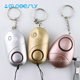 Portable Anti Rape Alarm Keychain Personal Security Gadgets Alarm for Women, Elderly with Belt Clip