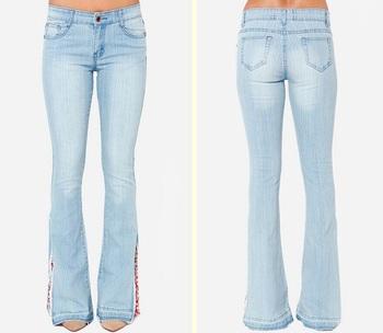 wholesale light wash flare bell bottom denim jeans buy bell bottom denim jeans flare denim. Black Bedroom Furniture Sets. Home Design Ideas