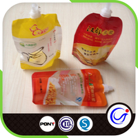 Seasoning packet plastic bags with spouted pouch