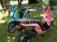 pink scooter 150cc CE/EEC high speed long range two wheel hub motor electric scooter with pedals for sale