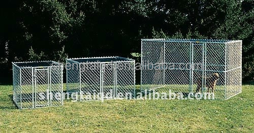 High quality new design galvanized outdoor chain link dog kennel large dog house