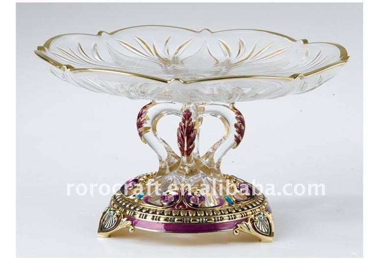 2015 household crystal pewter alloy metal fruit plate/candy plates/chocolate plate fashion