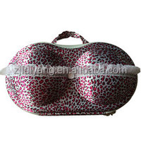 OEM custom goodlooking lace flower fashionable travel carrier summit quality EVA bra panty bag/case Factory pocket