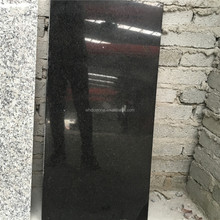Wuhan black granite for tiles with polished surface