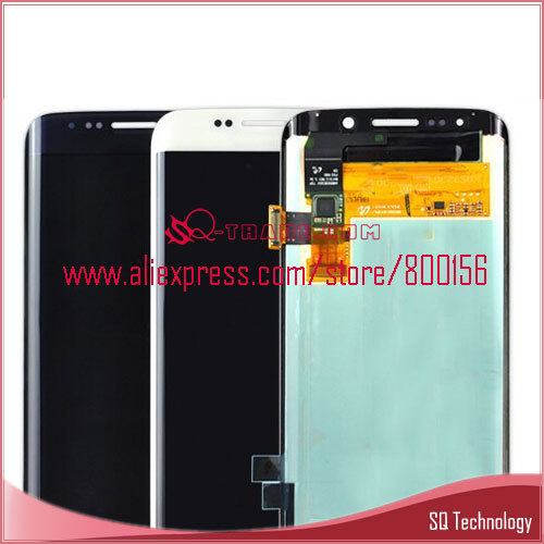New Product White and blue for Samsung for Galaxy S6 edge LCD G925 SM-G925V SM-g925P Display with Touch Screen Digitizer