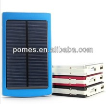 10000mAh Solar Power bank, External Battery Charger with 4 connectors 1 usb cable For Moblie Phones